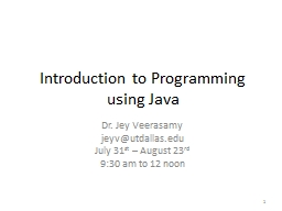 JAVA TO INTRODUCTION