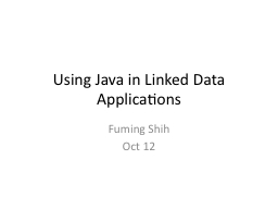 Using Java in Linked Data Applications