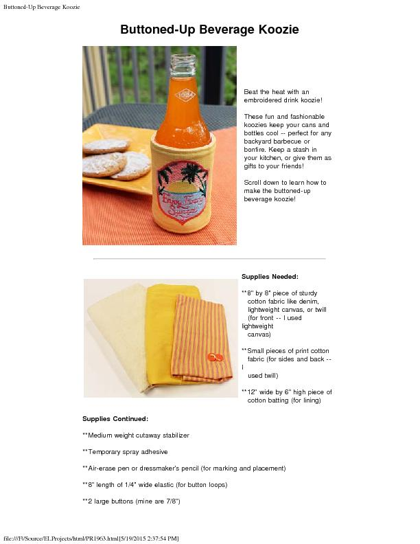 Buttoned-Up Beverage Kooziefile:///F /Source/ELProjects/html/PR1963.ht