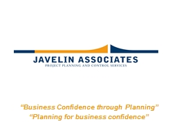 �Business Confidence through Planning�