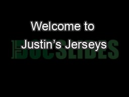 Welcome to Justin's Jerseys