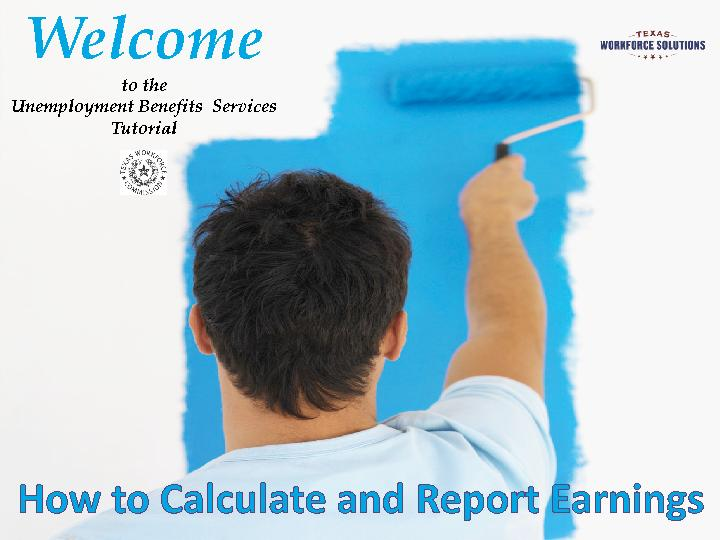 Welcome to the Unemployment Benefits  Services  Tutorial PowerPoint PPT Presentation