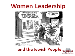 and the Jewish People PowerPoint PPT Presentation