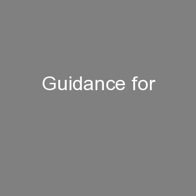 Guidance for