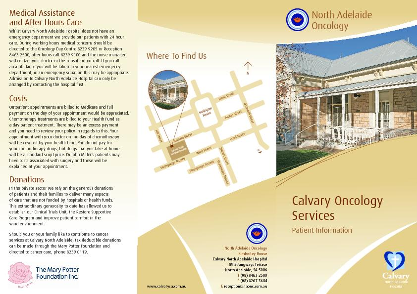 Calvary Oncology ServicesComprehensive, Compassionate Cancer CareWithi
