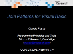 Join Patterns for Visual Basic