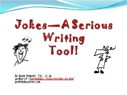 Jokes—A Serious Writing
