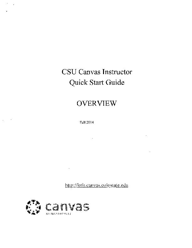 Canvas Instructor Quick Start Guide PowerPoint PPT Presentation