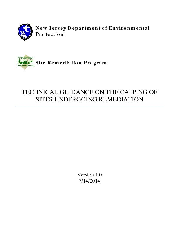 New Jersey Department of Environmental Protectionite Remediation Progr