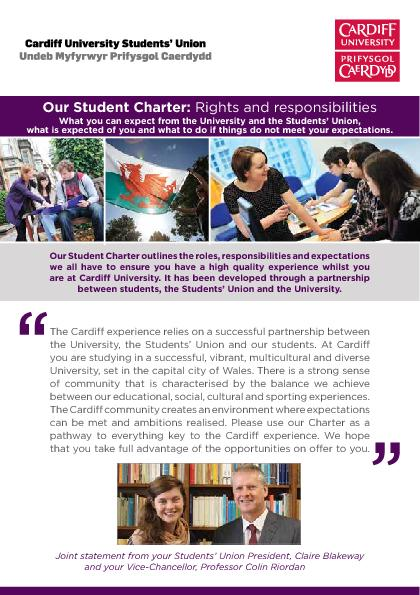 Further information on our Student Charter, including links to all rel