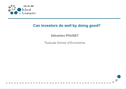 Can investors do well by doing good?