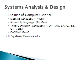 The Rise of Computer Science PowerPoint PPT Presentation