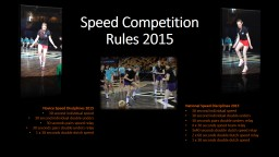Speed Competition PowerPoint PPT Presentation