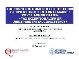 THE CONSTITUTIONAL ROLE OF THE COURT OF JUSTICE IN THE INTE