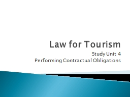 Law for Tourism