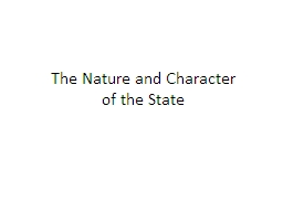 The Nature and Character