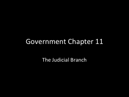 Government Chapter 11
