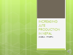 INCREASING JUTE PRODUCTION IN NEPAL
