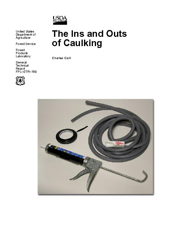 Carll, Charles. 2006. The ins and outs of caulking. General Technical