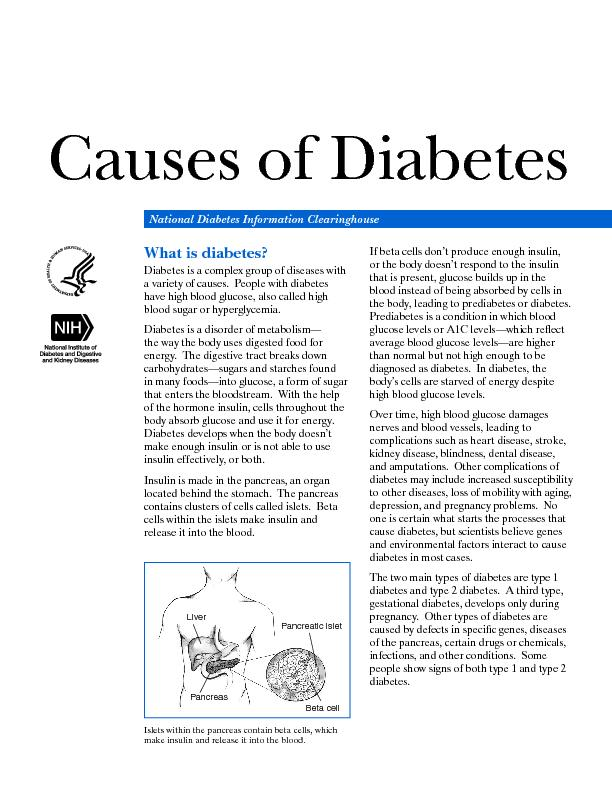 a variety of causes.  People with diabetes