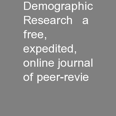 Demographic Research   a free, expedited, online journal of peer-revie