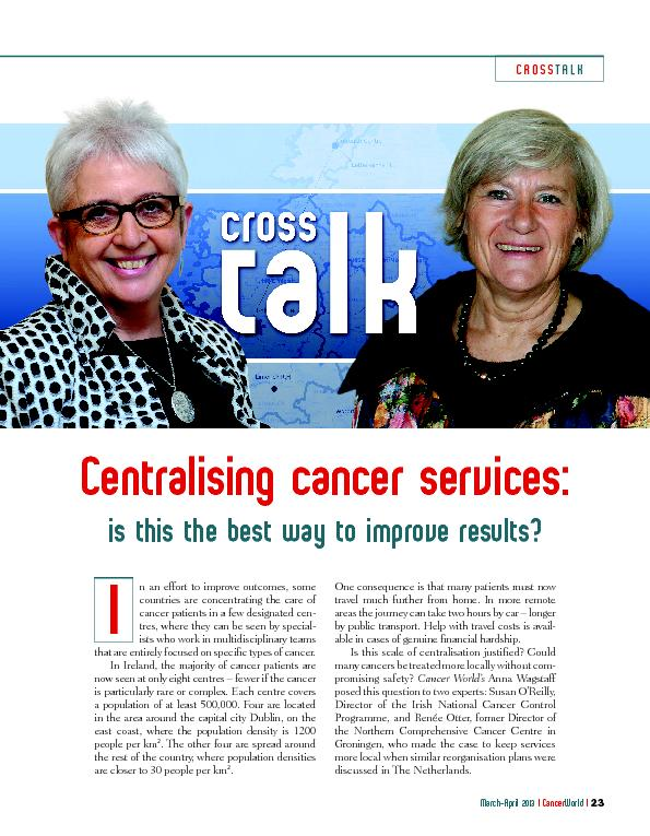 Centralising cancer services: