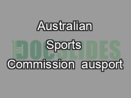 Australian Sports Commission  ausport