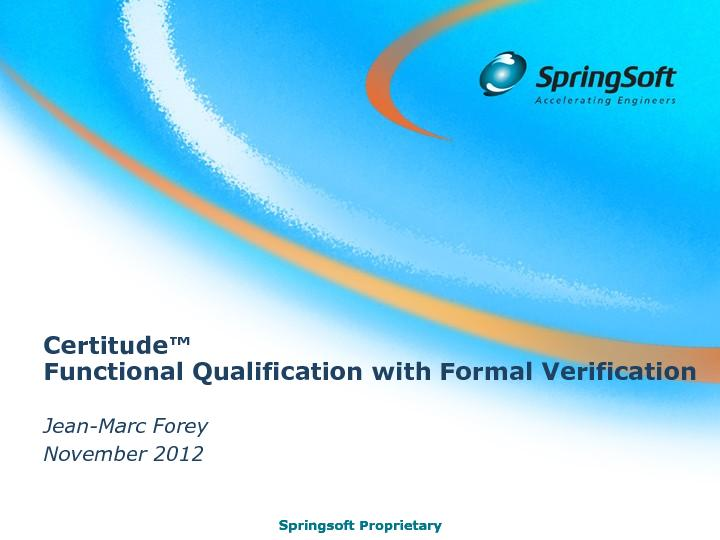 Functional Qualification with Formal Verification