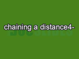 chaining a distance4-