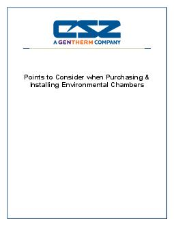 Points to Consider when Purchasing & Installing Environmental Cha
