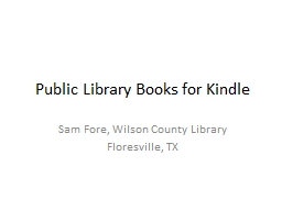 Public Library Books for Kindle