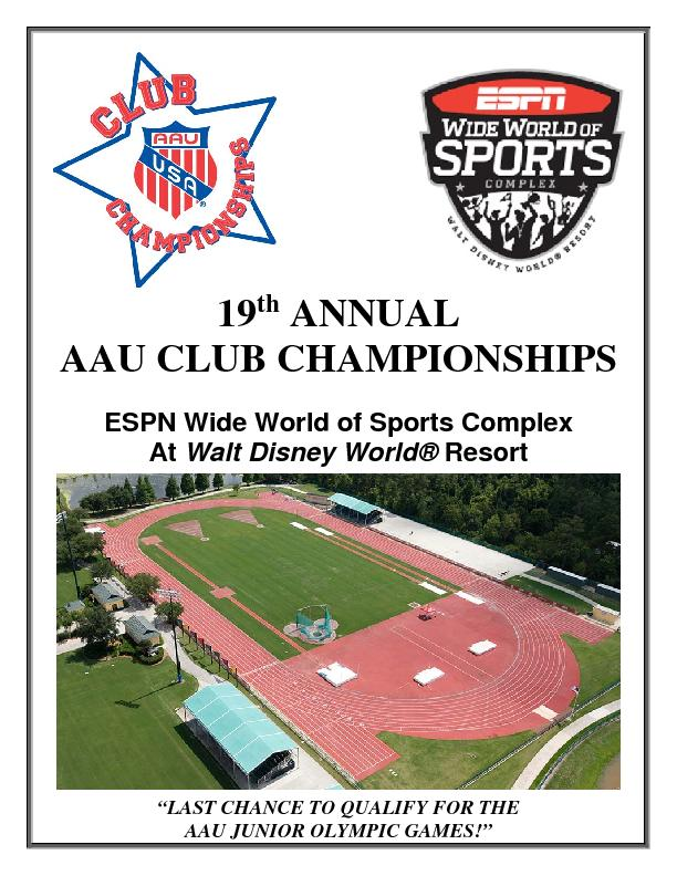 19 ANNUAL AAU CLUB CHAMPIONSHIPS  ESPN Wide World of Sports Complex At