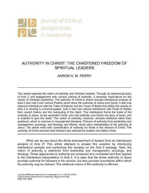authority of Jesus, as the ascended Christ, who has authority over Dav PowerPoint PPT Presentation