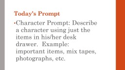 Today's Prompt PowerPoint PPT Presentation