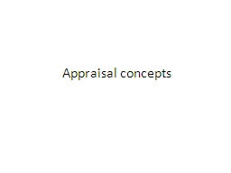 Appraisal concepts PowerPoint PPT Presentation
