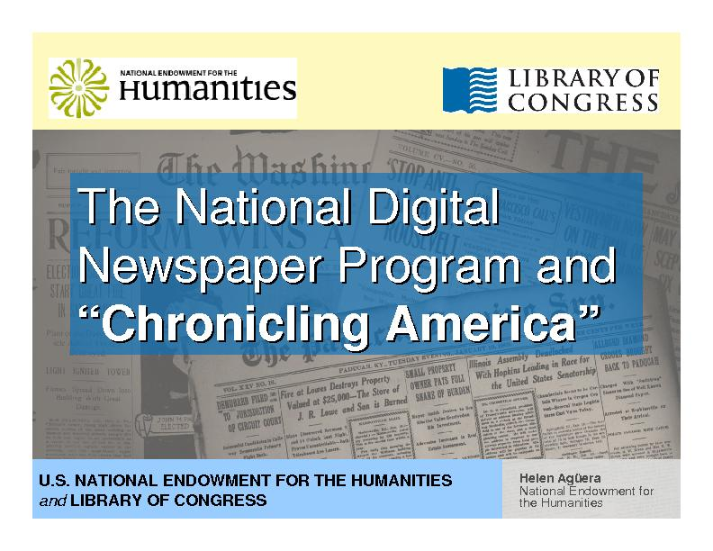National Endowment for the Humanities PowerPoint PPT Presentation