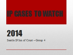 IP CASES TO WATCH