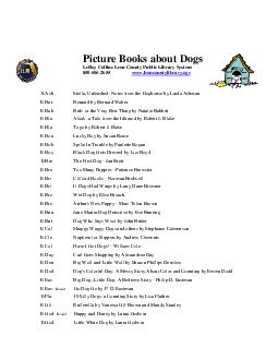 Picture Books about Dogs LeRoy Collins Leon County Public Library System    www