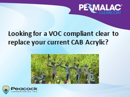 Looking for a VOC compliant