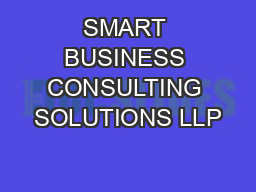 SMART BUSINESS CONSULTING SOLUTIONS LLP