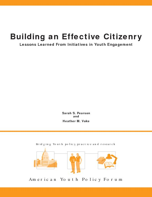 Building an Effective CitizenryLessons Learned From Initiatives in You