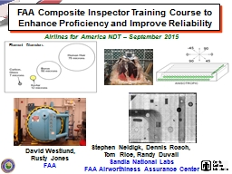 FAA Composite Inspector Training Course to Enhance Proficie