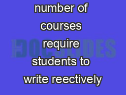 An increasing number of courses require students to write reectively PDF document - DocSlides