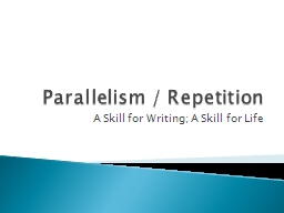 parallelism repetition alliteration antithesis