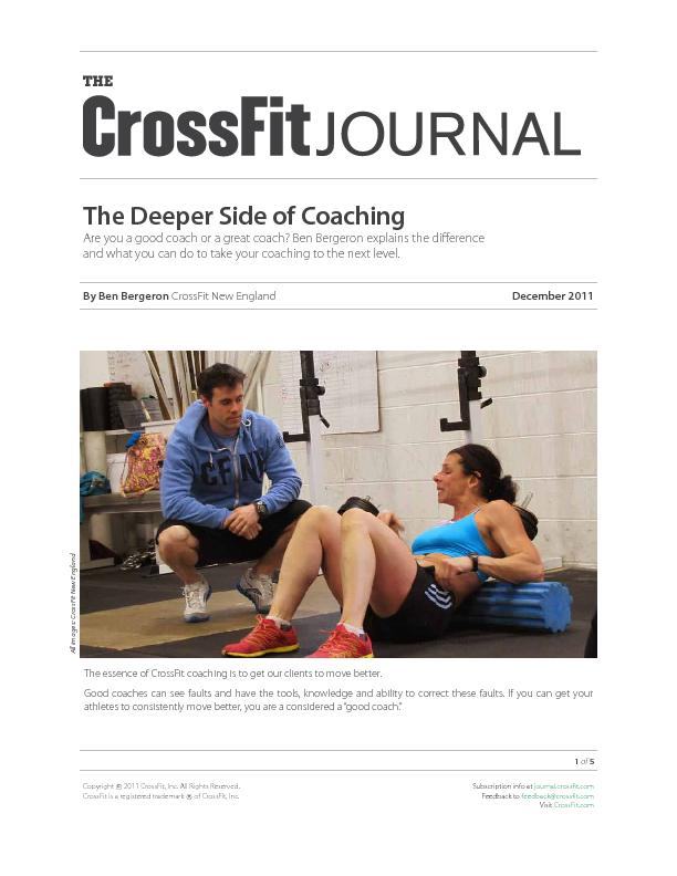 The deeper side of coaching