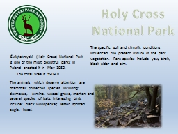 Holy Cross National Park PowerPoint PPT Presentation