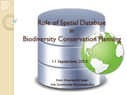 Role of Spatial Database