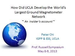 How Did UCLA Develop the World's Largest Ground Magnetome PowerPoint PPT Presentation