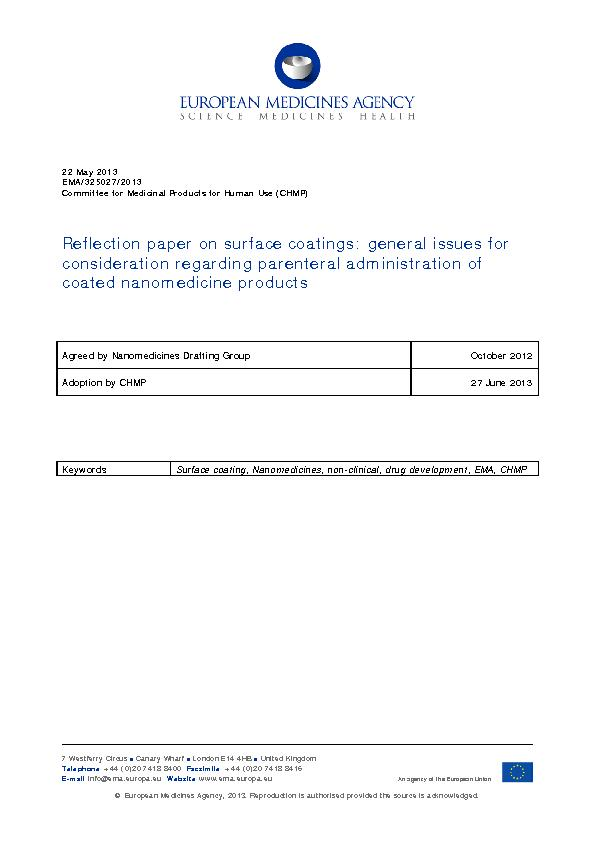 22 May 2013EMA//2013Committee for Medicinal Products for Human Use (CH