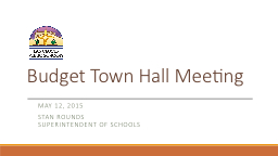 Budget Town Hall Meeting PowerPoint PPT Presentation